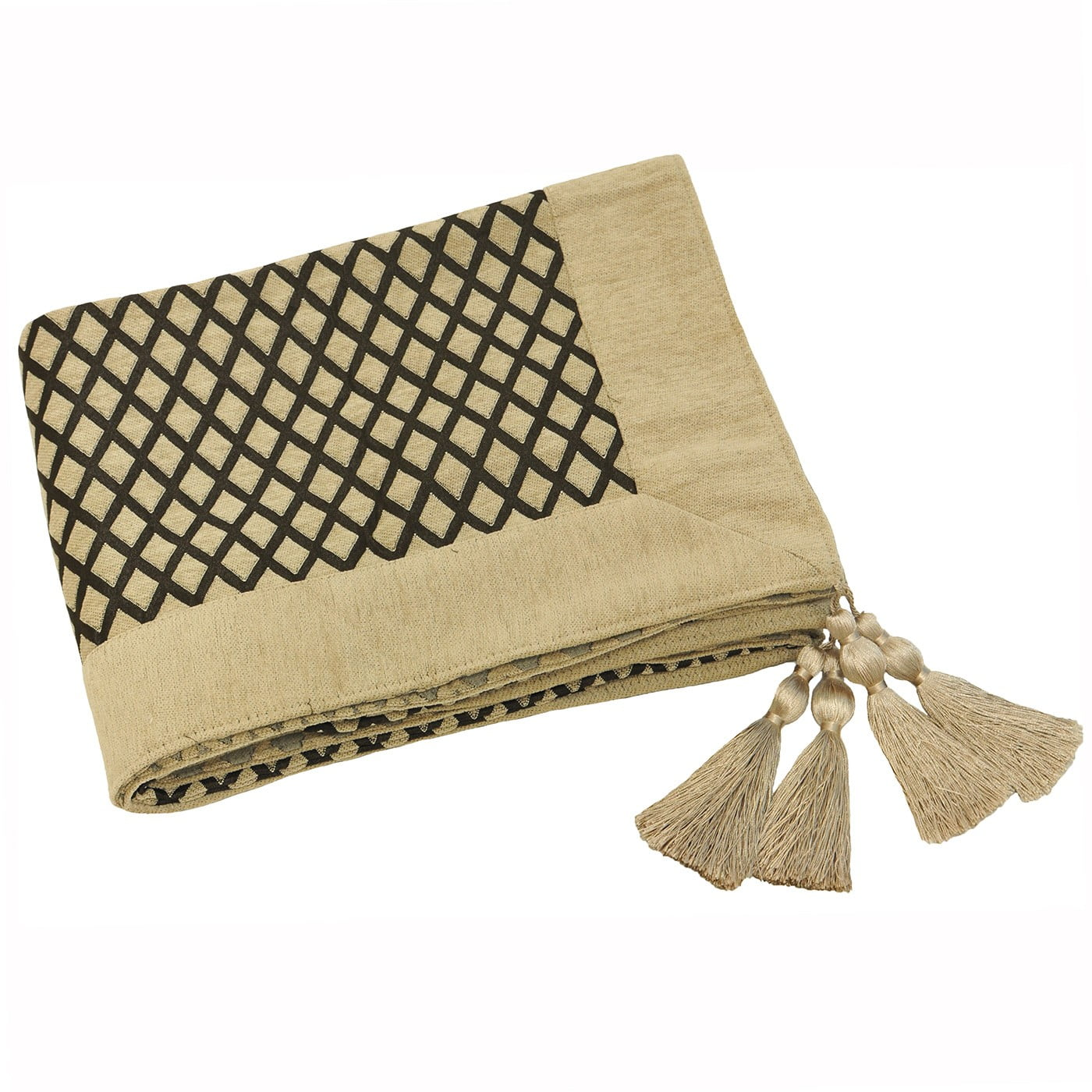 Mocha Tassel Throw