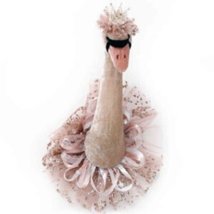 Pink & Gold Swan Decoration