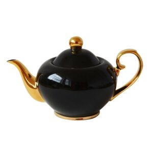 Buttercup Black & Gold Teapot