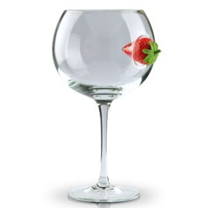Copa Strawberry Clear Glass