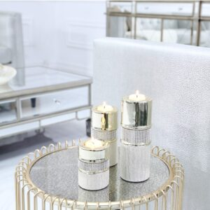 Diamante Champagne Candle Holder