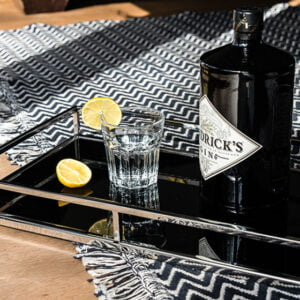 Ebony Glass Tray