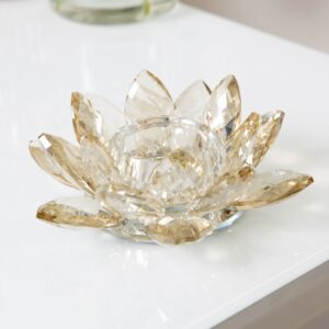 Estella Glass Flower Candle Holder