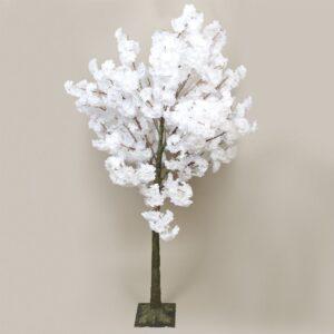 Faux White Blossom Tree