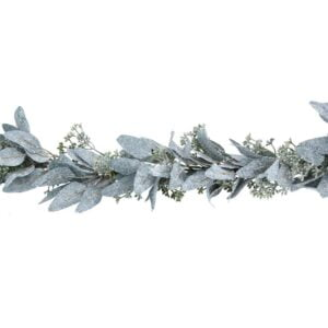 Frosted Eucalyptus Leaf Garland