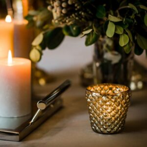 Silver Bubble Candle Holder