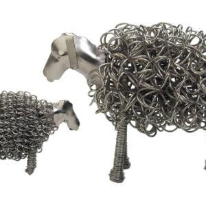 Silver Wiggle Lamb and Sheep