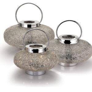 Silver Wire Weave Lantern