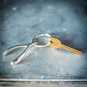 Silver Wishbone Keyring
