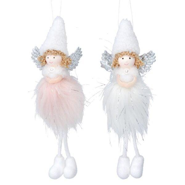Faux Fur Fairy Tree Decoration
