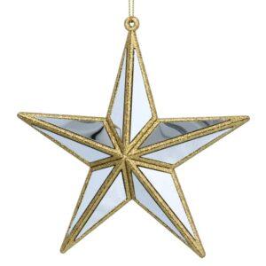 Gold Mirror Star Tree Decoration