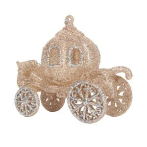 Gold & Silver Glitter Princess Carriage
