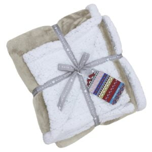 Lux Sherpa Natural Fleece Throw
