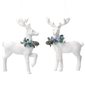 White Eucalyptus Reindeer Decoration
