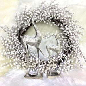 Silver Standing Reindeer – Two Sizes!