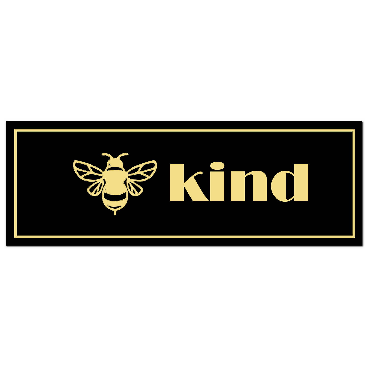 'Bee Kind' Metallic Plaque