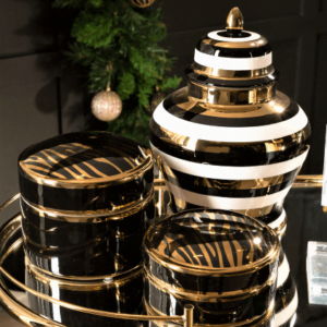 Signature Striped Jar and Boxes