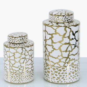 Clark White & Gold Jar - Two Sizes!