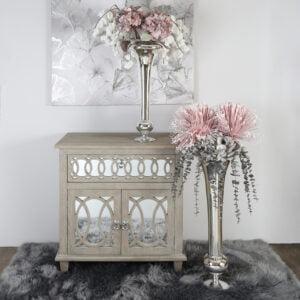 Faux Pink & Grey Hydrangea