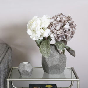Faux White and Grey Hydrangea
