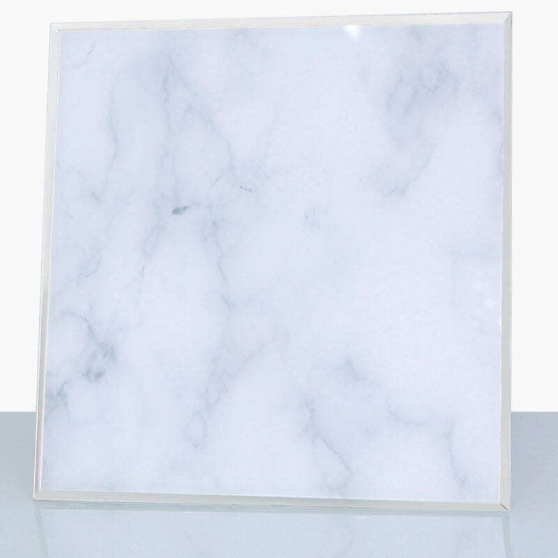 Grey Marble Candle Plate