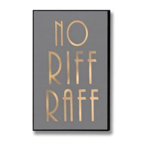 'No Riff Raff' Gold Plaque