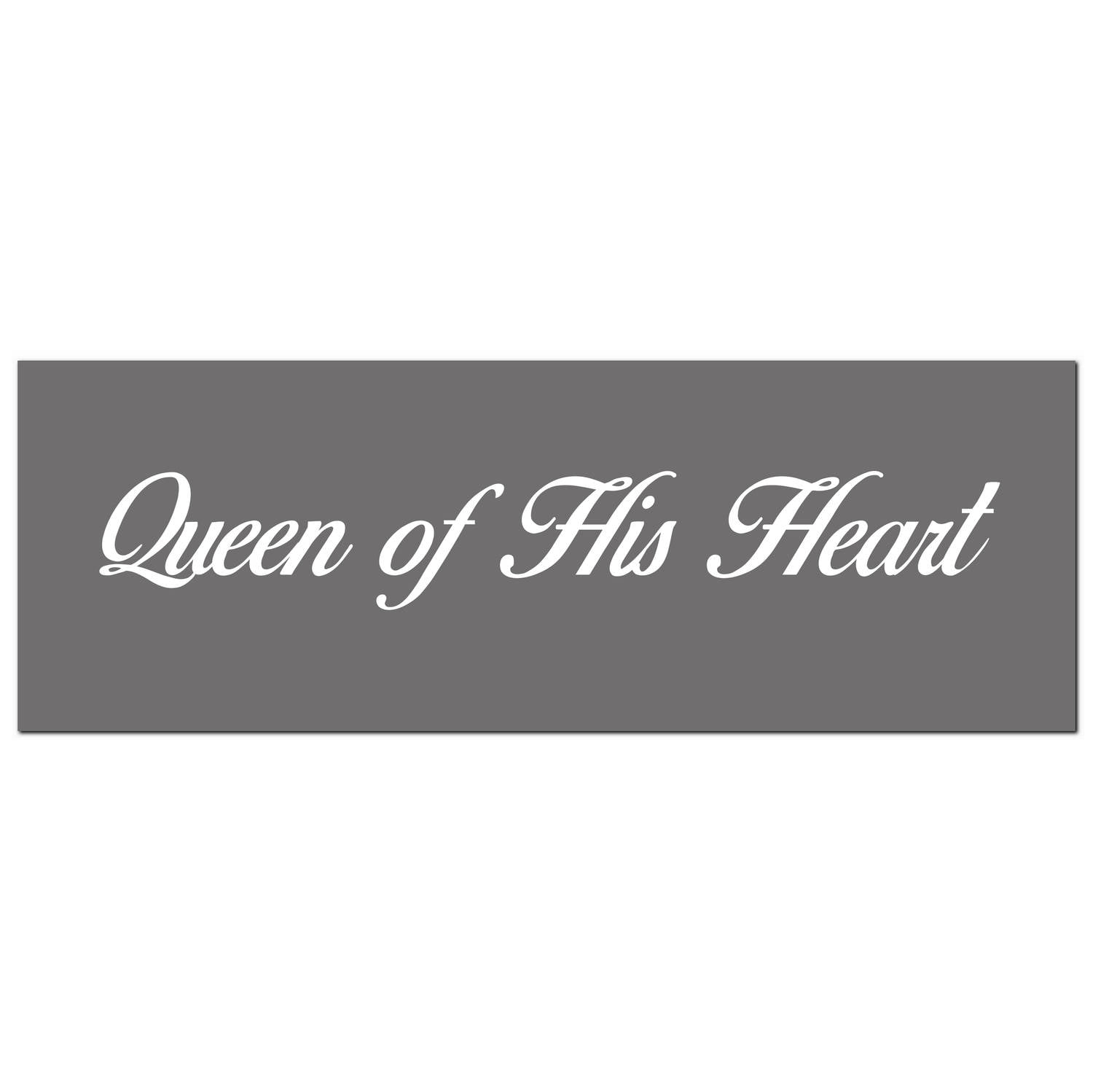 'Queen of His Heart' Silver Plaque