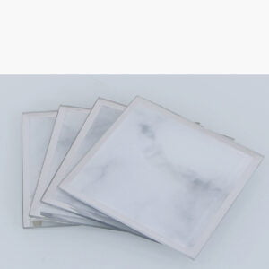 Set of Four Grey Marble Coasters