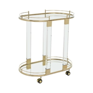 Signature Oval Mirror Drinks Trolley