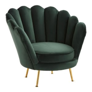 Signature Scalloped Green Chair