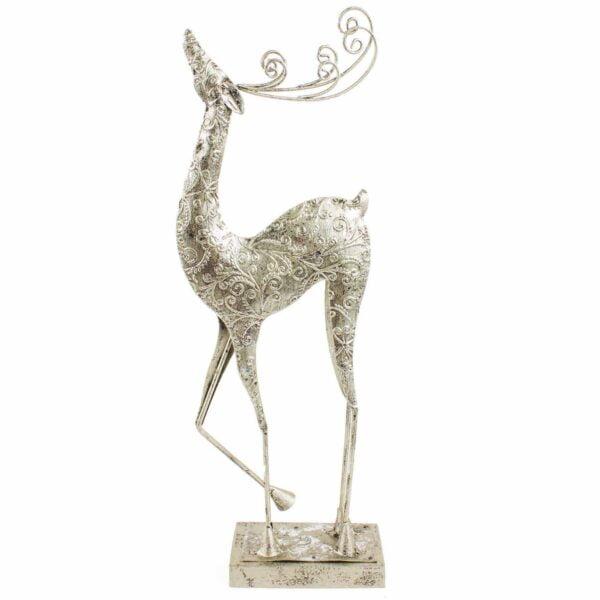 Silver Standing Reindeer - Medium