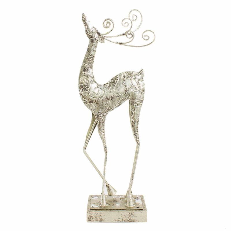 Silver Standing Reindeer - Small