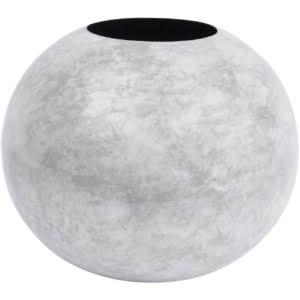 White Marble Effect Spherical Vase