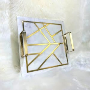 Emilia Square Marble Tray