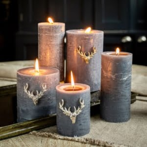 Set of Three Small Stag Candle Pins