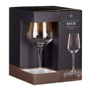 Signature Deco Set of 4 Wine Glasses