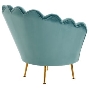 Signature Scalloped Blue Chair
