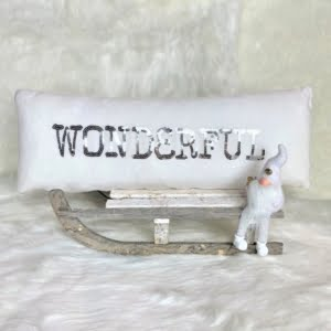 'Wonderful' White Cushion