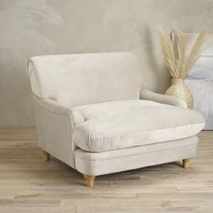 Lifestyle Beige Velvet Luxurious Chair