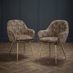 Lifestyle Plush Velvet Leopard Chair