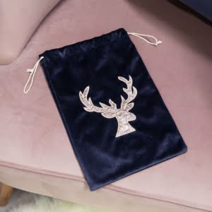 Navy & Gold Stag Gift Bag