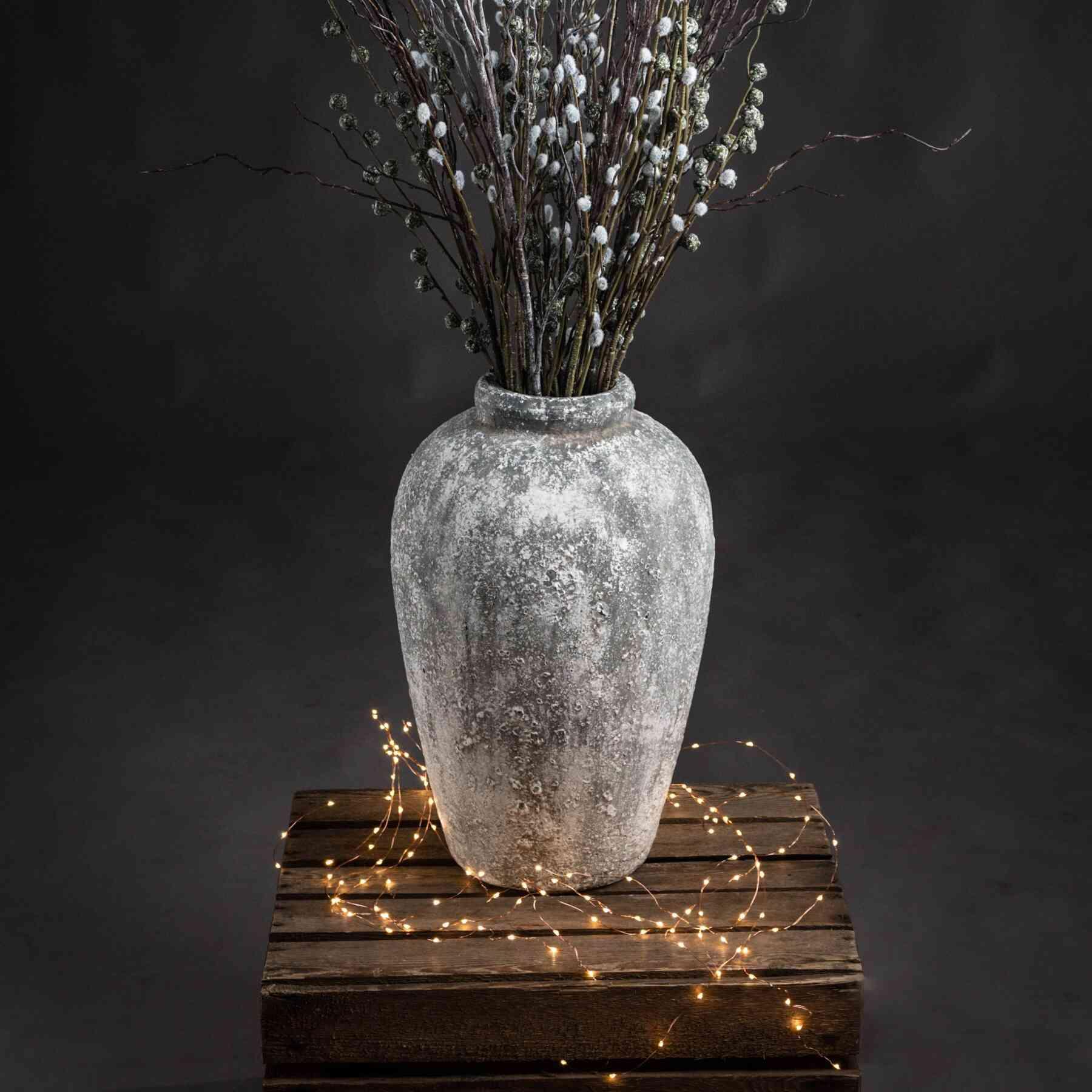 Honor Aged Stone Tall Ceramic Vase