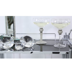 Azure Champagne Silver Saucer