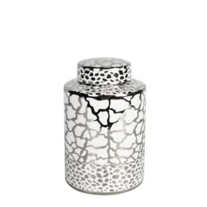 Clark White & Silver Jar - Two Sizes!