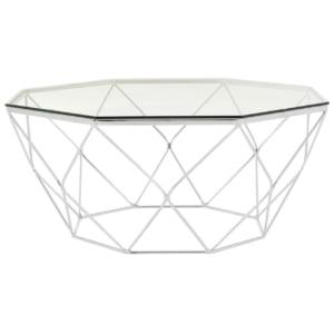 Signature Alina Glass & Chrome Coffee Table