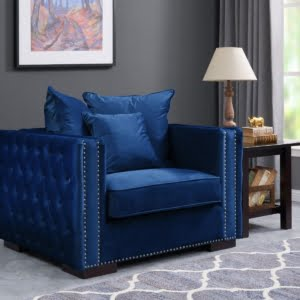 The Madrid Royal Blue Chair