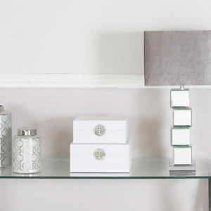 White Faux Leather Boxes