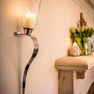 Curved Candle Sconces - Two Sizes!