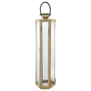 Herber Gold Glass Lantern