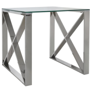 Meridian Stainless Steel End Table